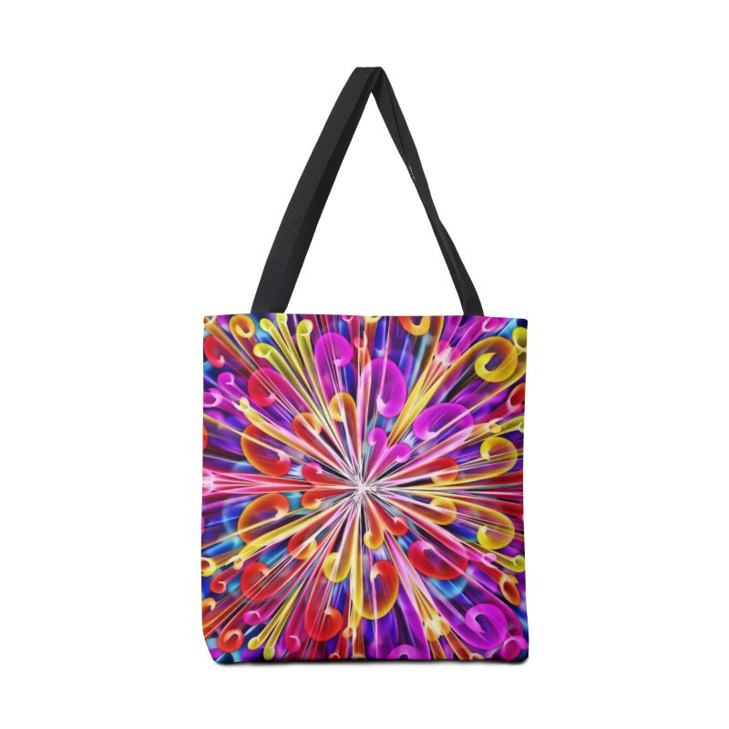 Unusual abstract flowers Accessories Tote Bag Bag by nicolekieferdesign's Artist Shop
