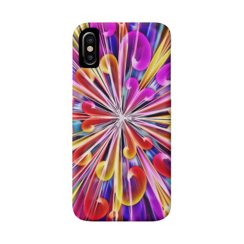 Unusual abstract flowers Accessories Phone Case by nicolekieferdesign's Artist Shop