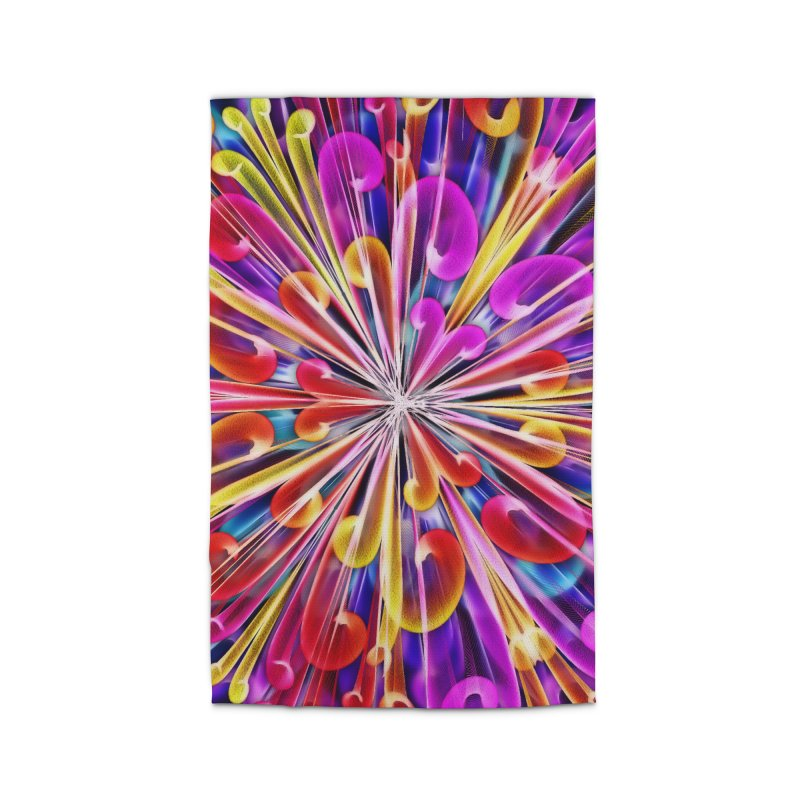 Unusual abstract flowers Home Rug by nicolekieferdesign's Artist Shop