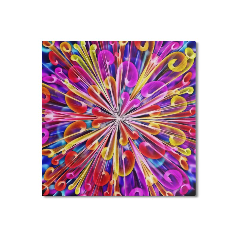Unusual abstract flowers Home Mounted Aluminum Print by nicolekieferdesign's Artist Shop