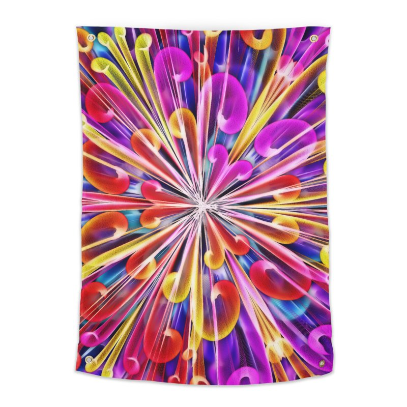 Unusual abstract flowers Home Tapestry by nicolekieferdesign's Artist Shop