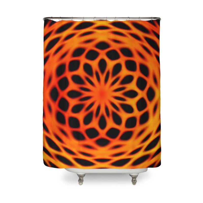 Fire Dome Home Shower Curtain by nicolekieferdesign's Artist Shop