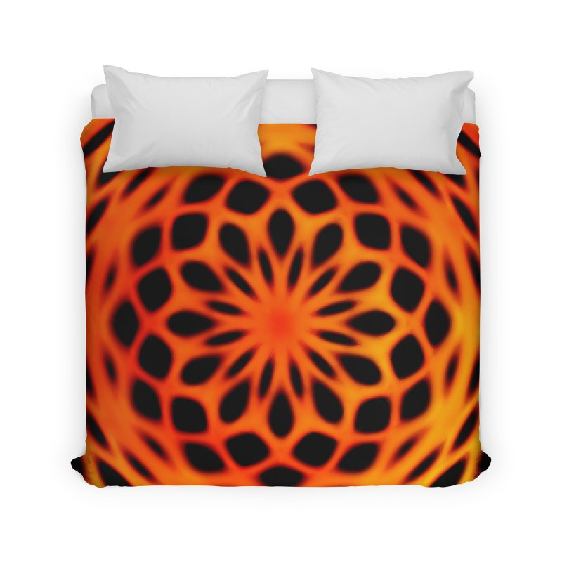 Fire Dome Home Duvet by nicolekieferdesign's Artist Shop