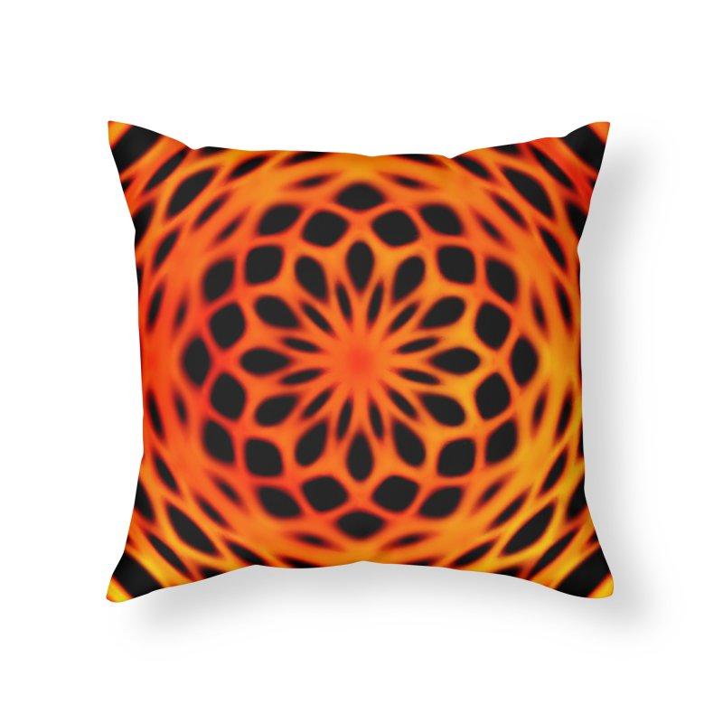 Fire Dome Home Throw Pillow by nicolekieferdesign's Artist Shop