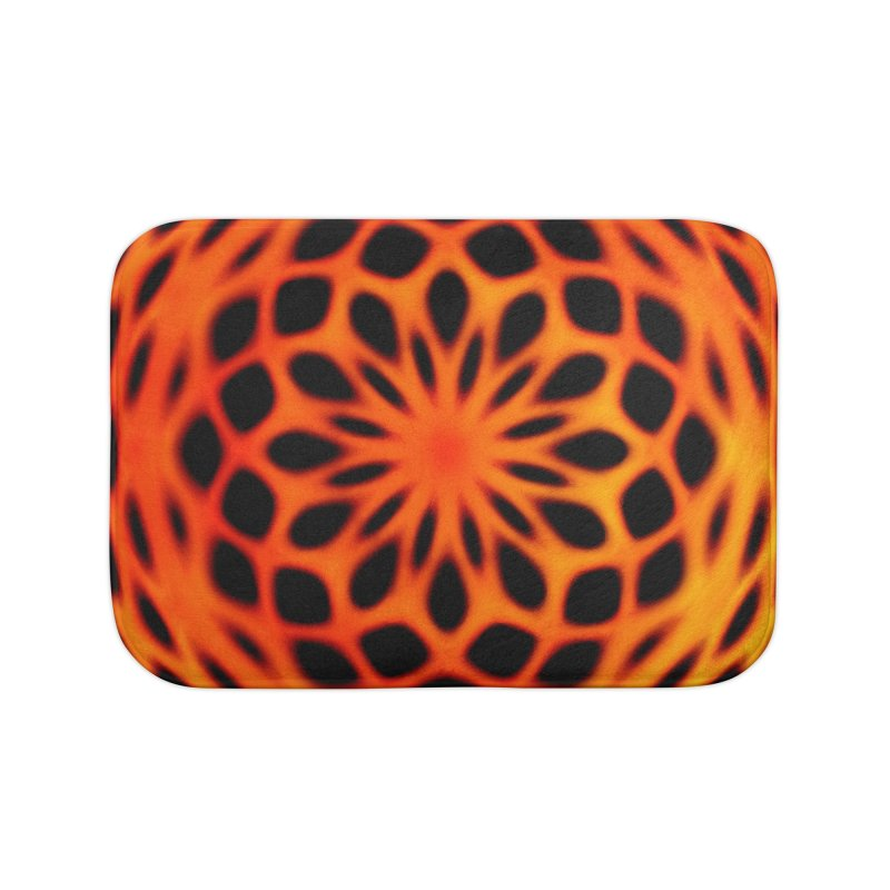 Fire Dome Home Bath Mat by nicolekieferdesign's Artist Shop