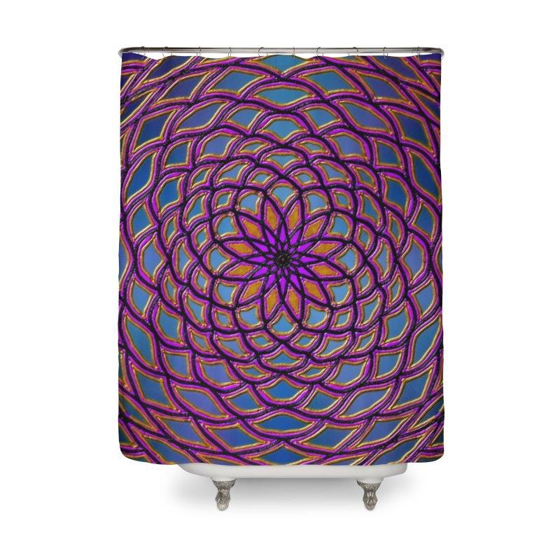 Flower Dome Home Shower Curtain by nicolekieferdesign's Artist Shop