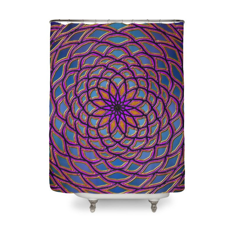 Flower Dome Home Shower Curtain by nicolekieferdesign's Artist Shop