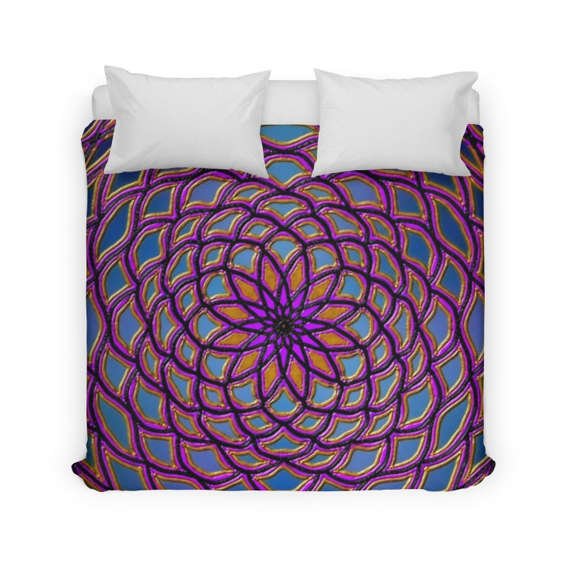 Flower Dome Home Duvet by nicolekieferdesign's Artist Shop