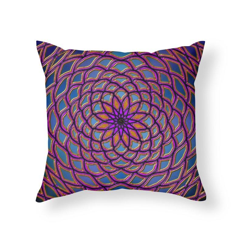 Flower Dome Home Throw Pillow by nicolekieferdesign's Artist Shop