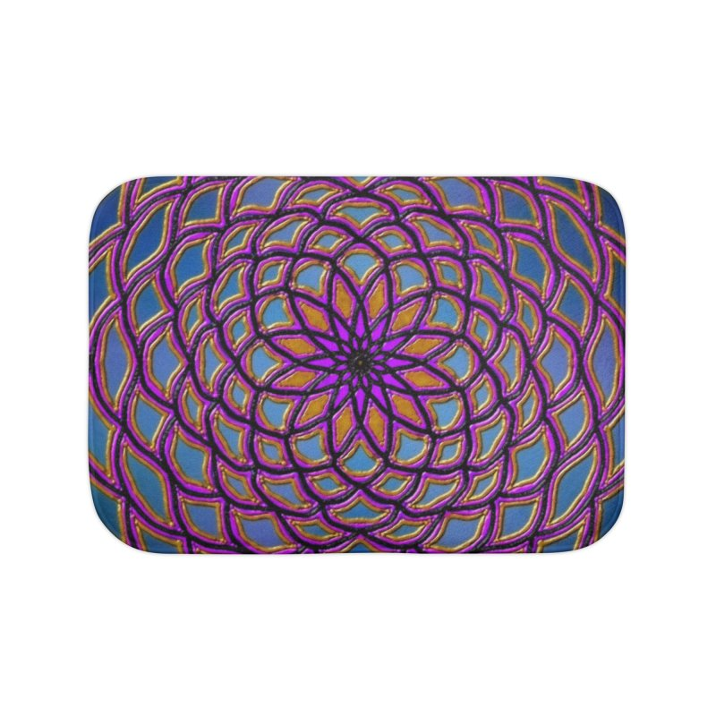 Flower Dome Home Bath Mat by nicolekieferdesign's Artist Shop
