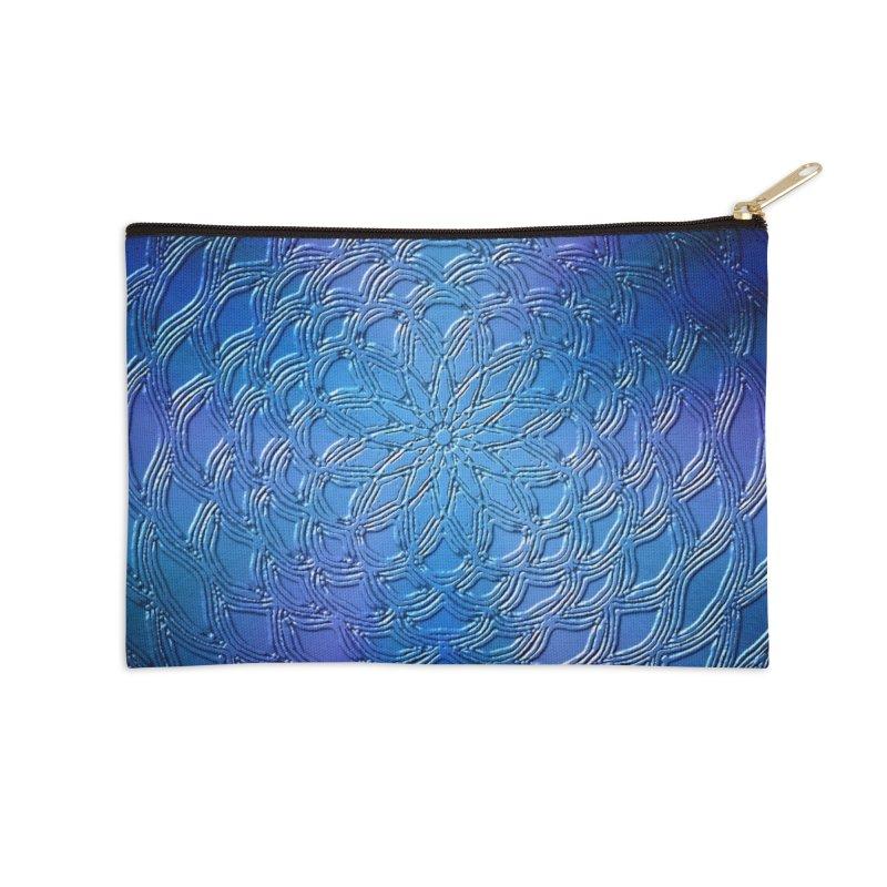 Hues of Blue Accessories Zip Pouch by nicolekieferdesign's Artist Shop
