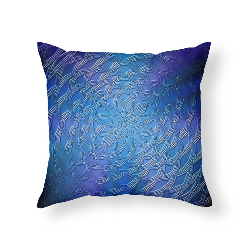 Hues of Blue Home Throw Pillow by nicolekieferdesign's Artist Shop