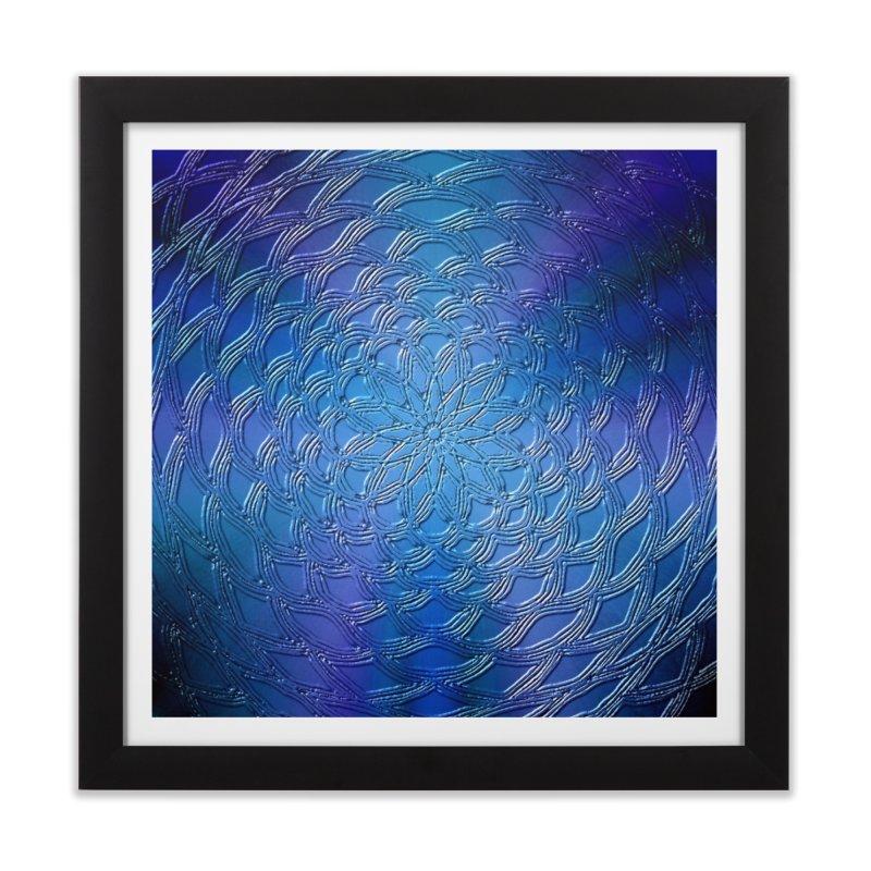 Hues of Blue Home Framed Fine Art Print by nicolekieferdesign's Artist Shop