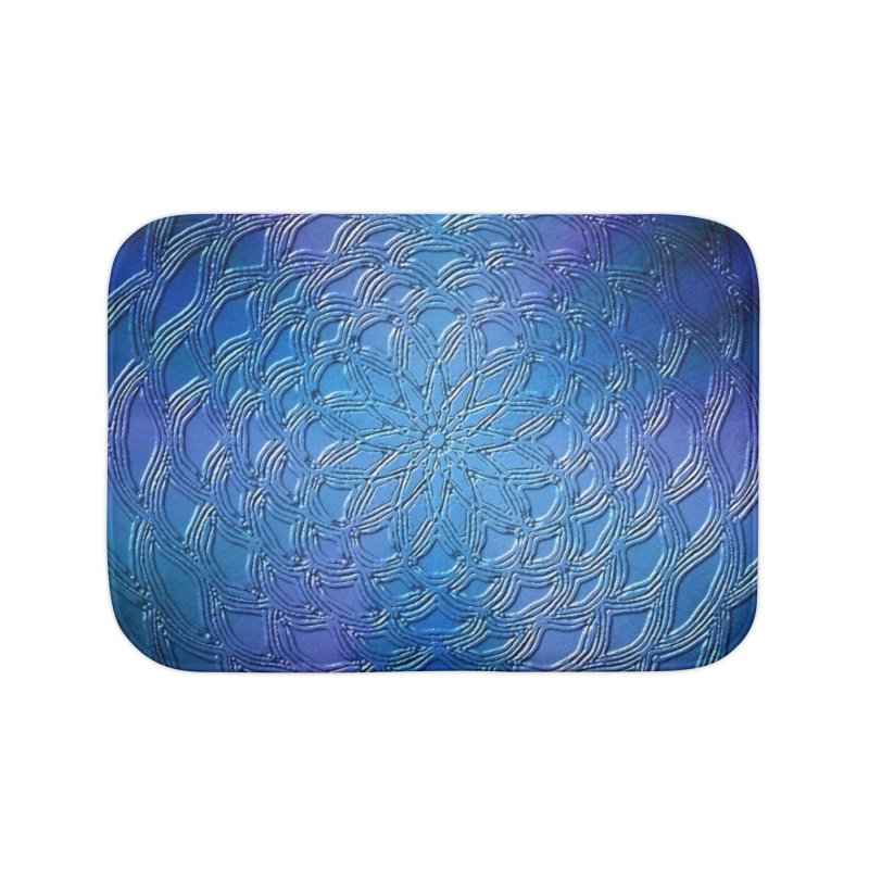 Hues of Blue Home Bath Mat by nicolekieferdesign's Artist Shop