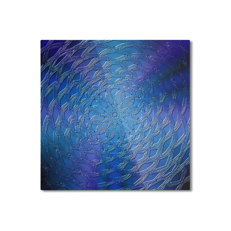 Hues of Blue Home Mounted Aluminum Print by nicolekieferdesign's Artist Shop