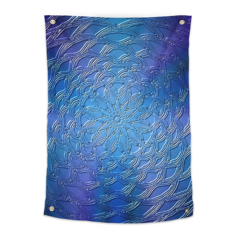 Hues of Blue Home Tapestry by nicolekieferdesign's Artist Shop