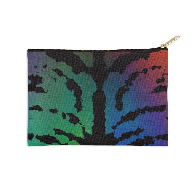 Inksplash on a Rainbow Accessories Zip Pouch by nicolekieferdesign's Artist Shop