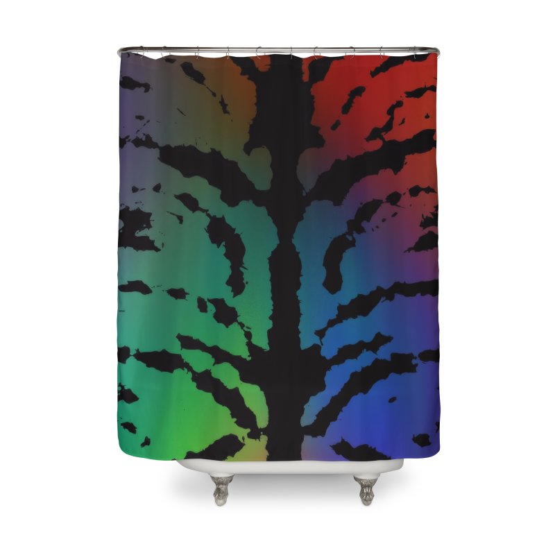 Inksplash on a Rainbow Home Shower Curtain by nicolekieferdesign's Artist Shop