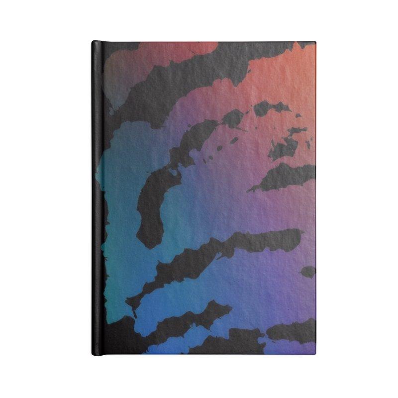 Inksplash on a Rainbow Accessories Notebook by nicolekieferdesign's Artist Shop