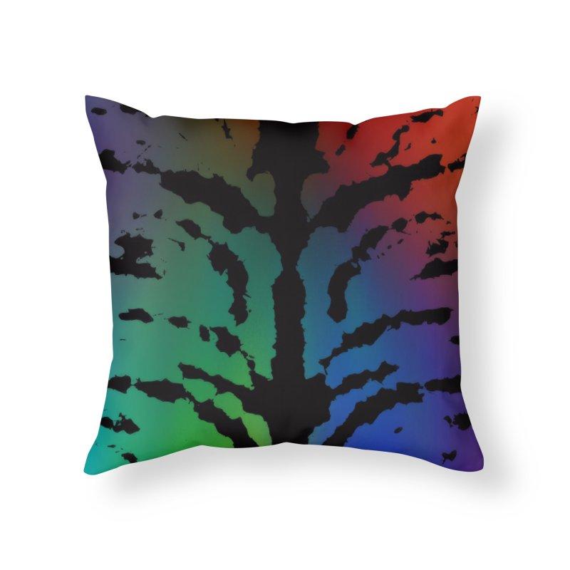 Inksplash on a Rainbow Home Throw Pillow by nicolekieferdesign's Artist Shop