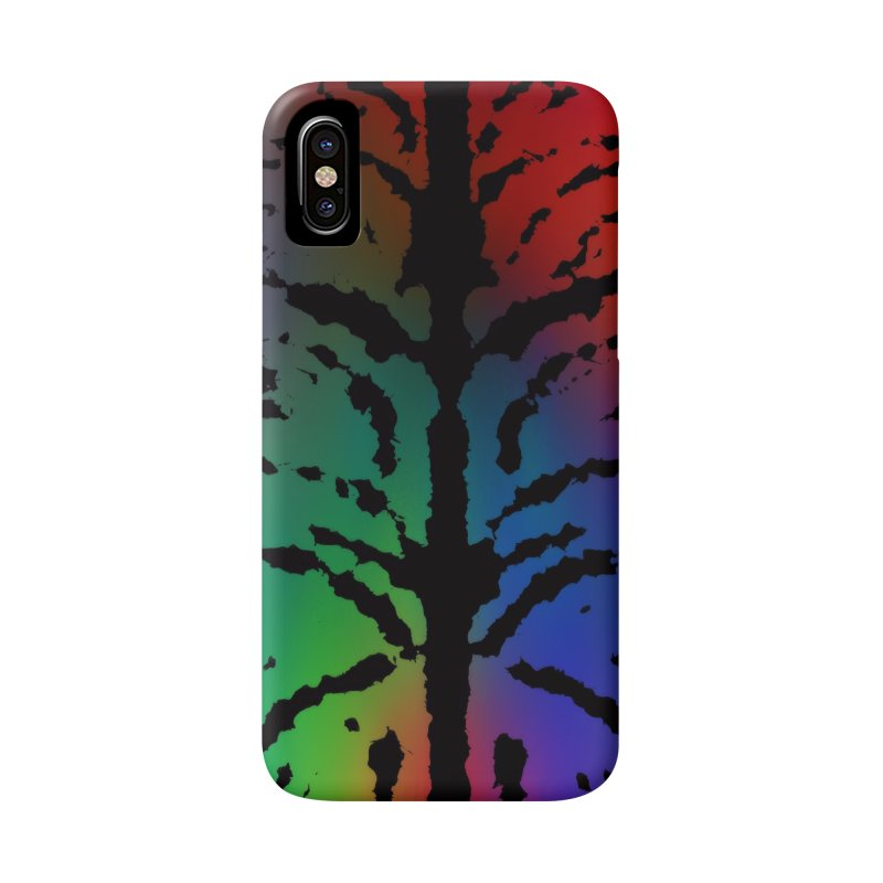 Inksplash on a Rainbow Accessories Phone Case by nicolekieferdesign's Artist Shop