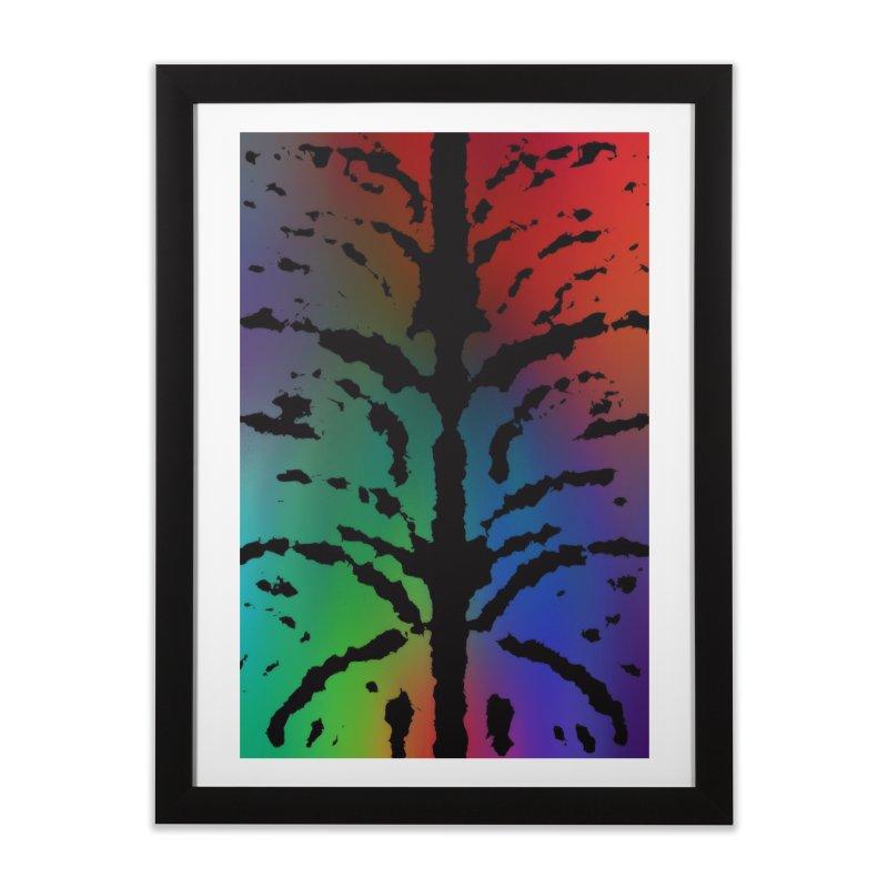 Inksplash on a Rainbow Home Framed Fine Art Print by nicolekieferdesign's Artist Shop