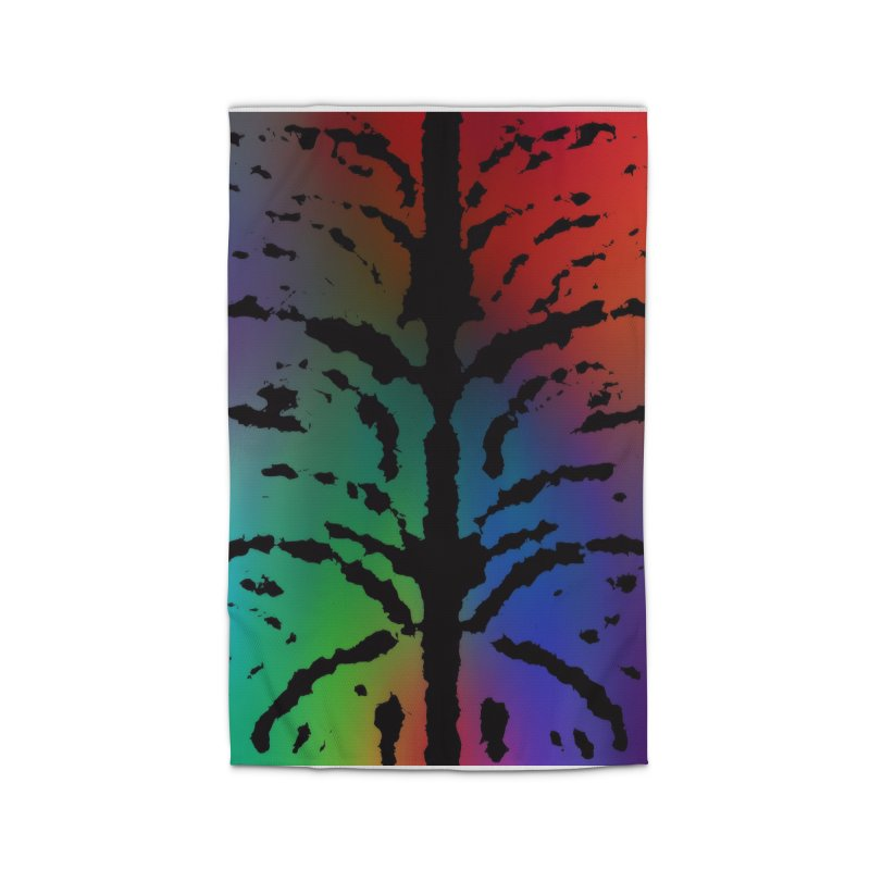 Inksplash on a Rainbow Home Rug by nicolekieferdesign's Artist Shop
