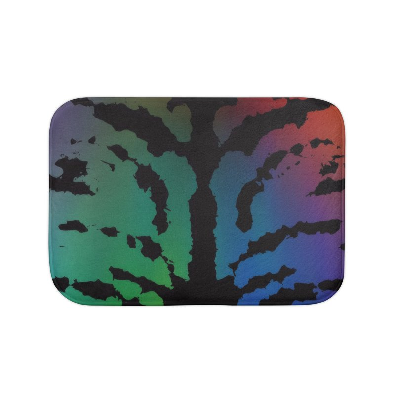 Inksplash on a Rainbow Home Bath Mat by nicolekieferdesign's Artist Shop