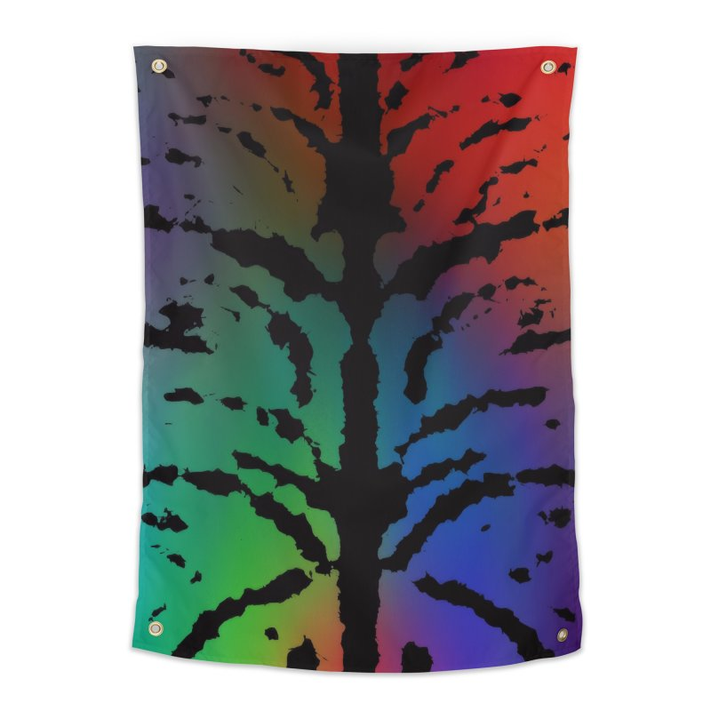 Inksplash on a Rainbow Home Tapestry by nicolekieferdesign's Artist Shop