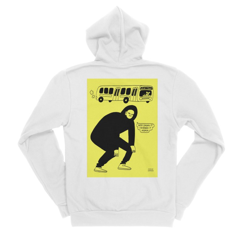 Missed The Love Town Bus Men's Zip-Up Hoody by Nicole Zaridze's Shop