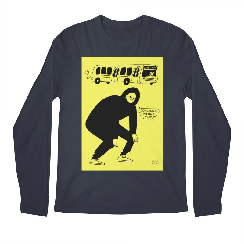 Missed The Love Town Bus Men's Longsleeve T-Shirt by Nicole Zaridze's Shop