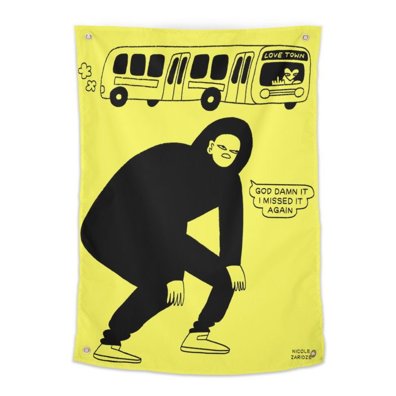 Missed The Love Town Bus Home Tapestry by Nicole Zaridze's Shop
