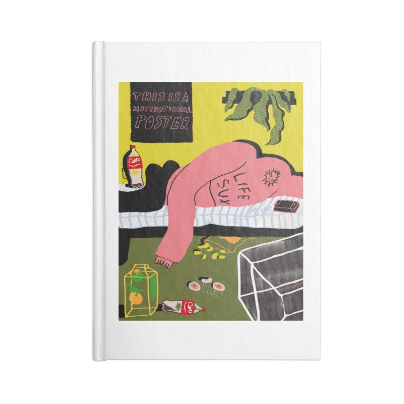 Life Sux Accessories Notebook by Nicole Zaridze's Shop