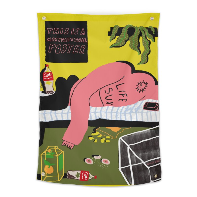 Life Sux Home Tapestry by Nicole Zaridze's Shop