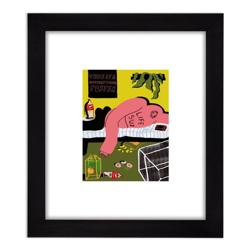 Life Sux Home Framed Fine Art Print by Nicole Zaridze's Shop