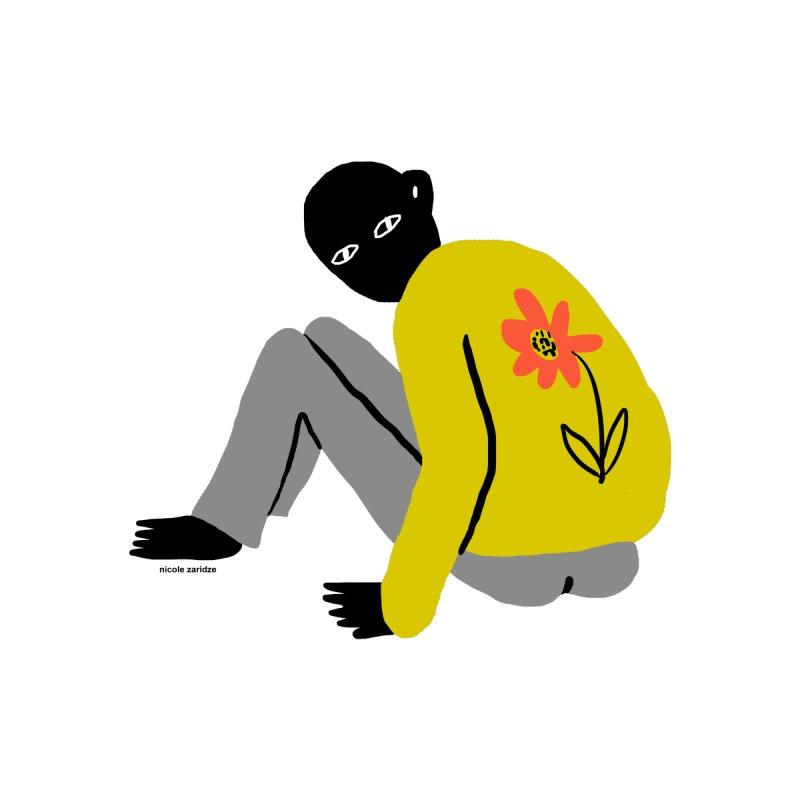 Flower Boy Accessories Zip Pouch by Nicole Zaridze's Shop