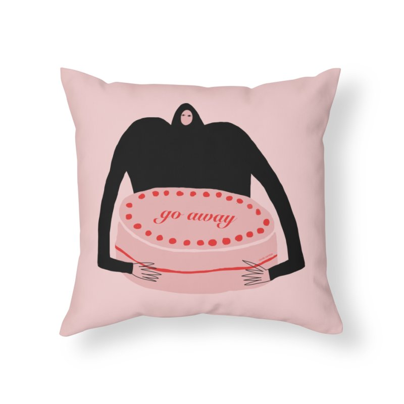 Go Away Home Throw Pillow by Nicole Zaridze's Shop