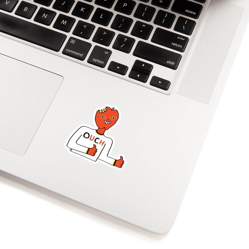 OUCH in White Sticker by Nicole Zaridze's Shop