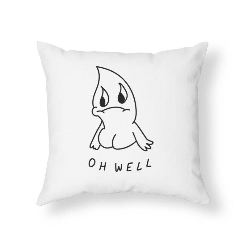 OH WELL Home Throw Pillow by Nicole Zaridze's Shop