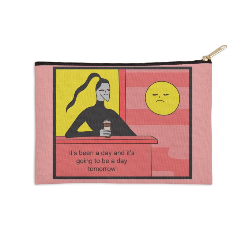 It's Been A Day Accessories Zip Pouch by Nicole Zaridze's Shop