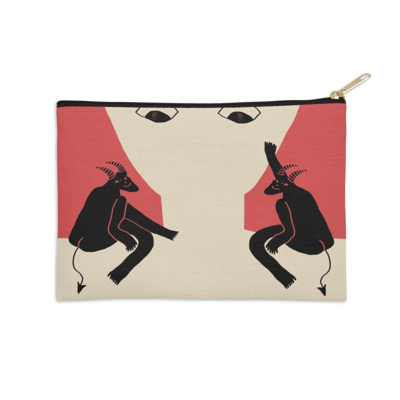 The Angel Couldn't Make It Today Accessories Zip Pouch by Nicole Zaridze's Shop