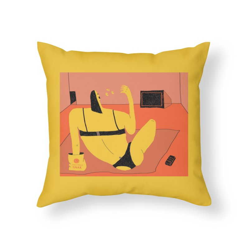 Like A Snack Home Throw Pillow by Nicole Zaridze's Shop