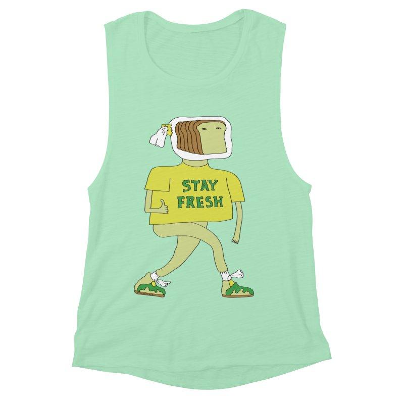 Stay Fresh Women's Muscle Tank by Nicole Zaridze's Shop
