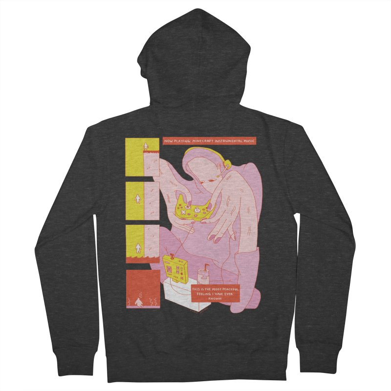 The Most Peaceful Feeling Men's French Terry Zip-Up Hoody by Nicole Zaridze's Shop