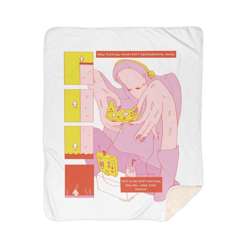 The Most Peaceful Feeling Home Sherpa Blanket Blanket by Nicole Zaridze's Shop