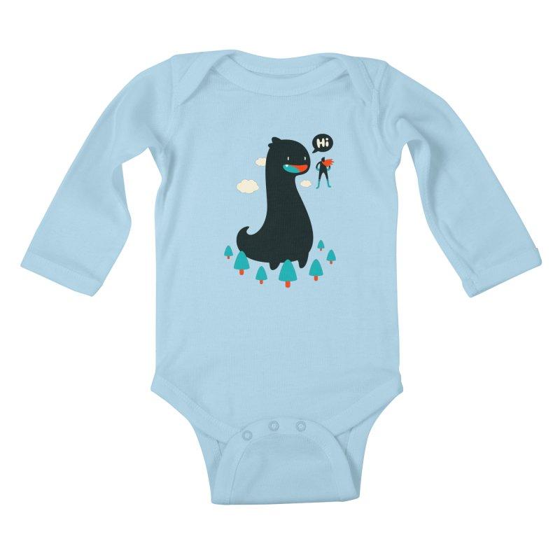 Safe from Harm Kids Baby Longsleeve Bodysuit by Niel Quisaba's Artist Shop
