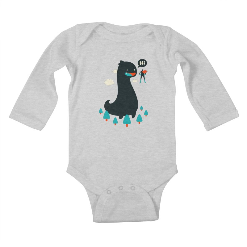 Safe from Harm Kids Baby Longsleeve Bodysuit by Niel Quisaba's Artist Shop