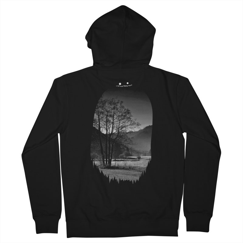 Monster Hill Men's Zip-Up Hoody by Niel Quisaba's Artist Shop