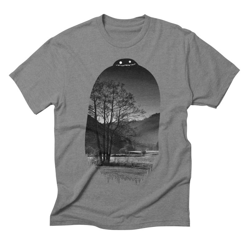 Monster Hill Men's Triblend T-shirt by nielquisaba's Artist Shop