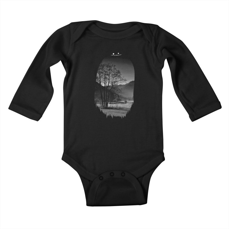 Monster Hill Kids Baby Longsleeve Bodysuit by Niel Quisaba's Artist Shop